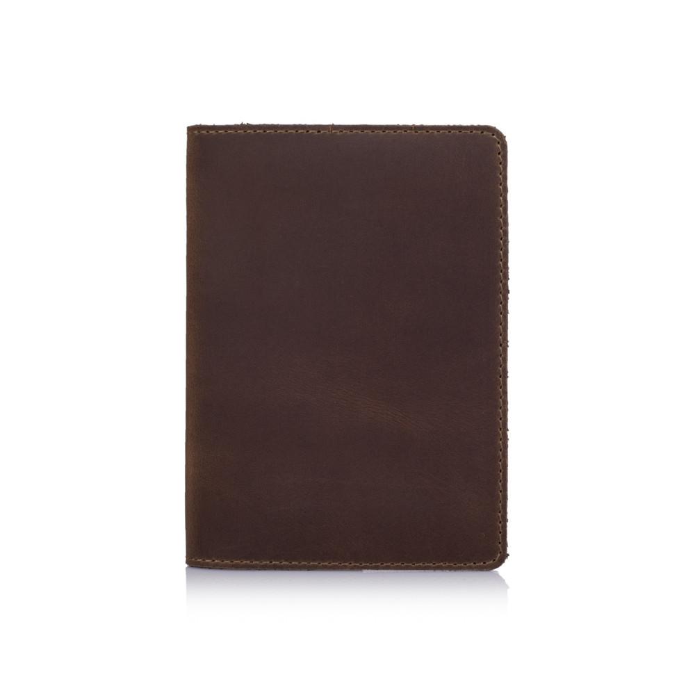 Обложка для паспорта кожаная Shabby. Цвет оливковый