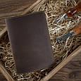 Обложка для паспорта кожаная Shabby. Цвет оливковый, фото 5