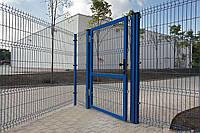 Калитка 2050х1000 мм (2 столба в бетон) оц.+ПВХ универсальное открывание