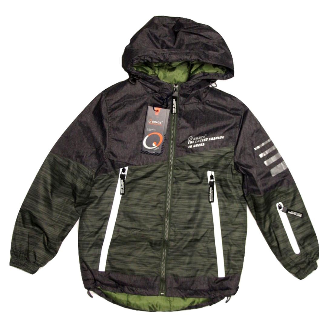 Куртка-парка демисезоная Grace для мальчика от 3-4 лет хаки