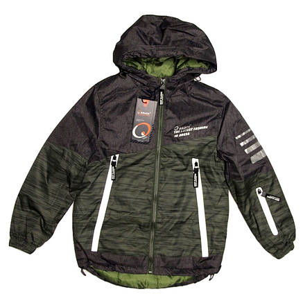 Куртка-парка демисезоная Grace для мальчика от 3-4 лет хаки, фото 2