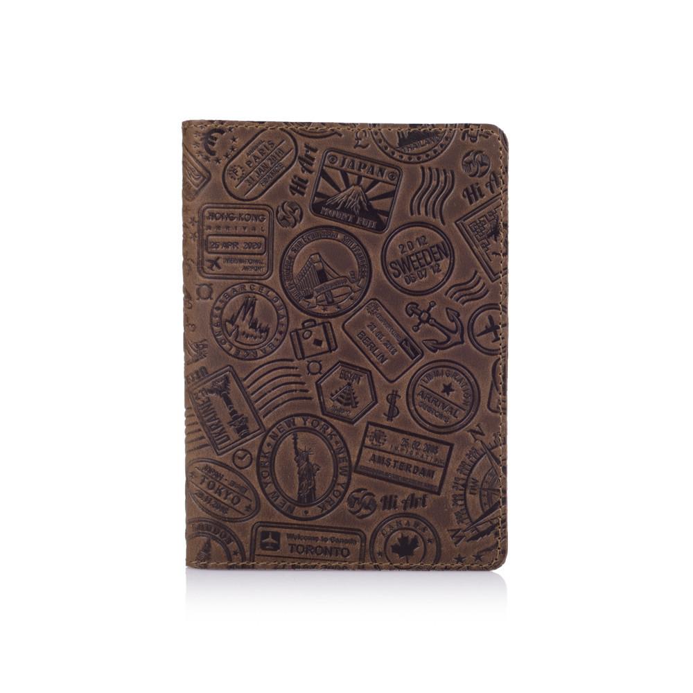 "Обложка для паспорта Shabby Olive ""Let's Go Travel"""