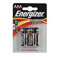 Батарейка ENERGIZER AAА  Alk (LR3) Power блистер 4шт