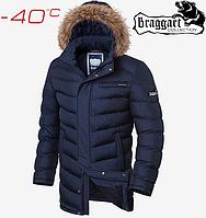 Куртка мужская на меху Braggart Aggressive - 4756#4755 синий, фото 1
