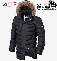 Зимняя куртка на меху Braggart Aggressive - 4756#4755 графит, фото 1