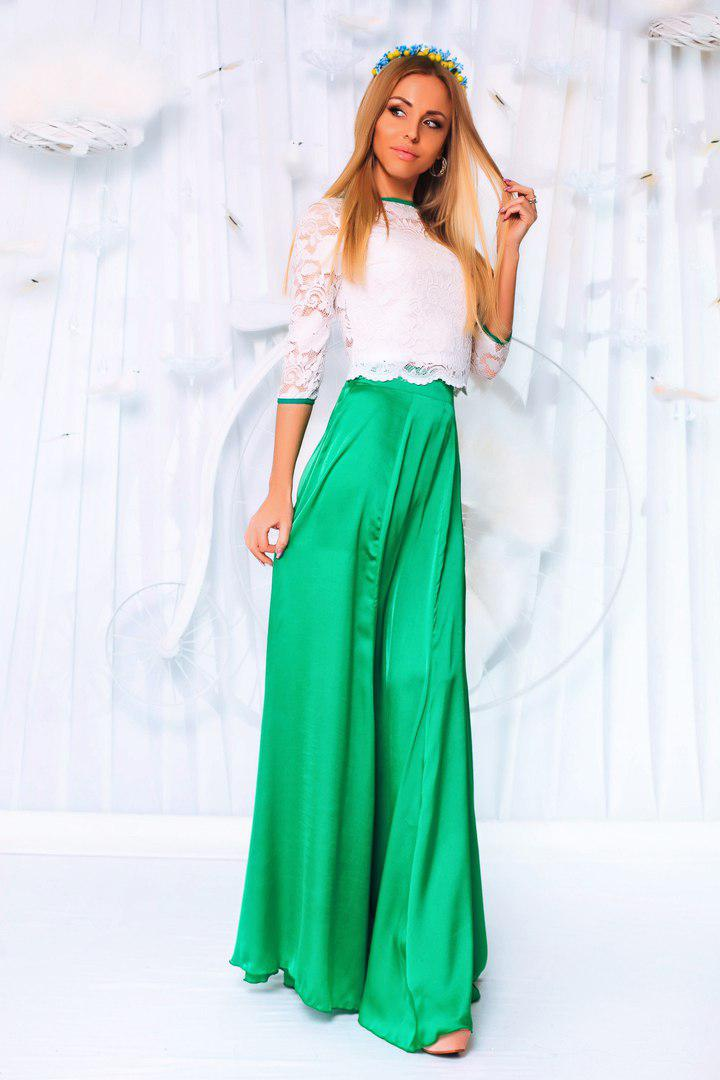 5461bc069c6 Вечерний женский костюм гипюр+атлас (3 расцв) - Интернет-магазин