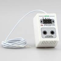 Терморегулятор для инкубатора цифровой в розетку (-40°...+110°, реле 10А) РТУ-10/П-NTC, фото 1