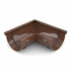 Угол желоба 90° наружный/внутренний Bryza 125 коричневый, белый, графит, кирпичный