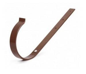 Кронштейн желоба прямой металлический Bryza 125 коричневый, белый, графит, кирпичный