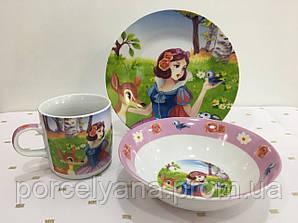 Набор детской посуды Белоснежка 3 пр