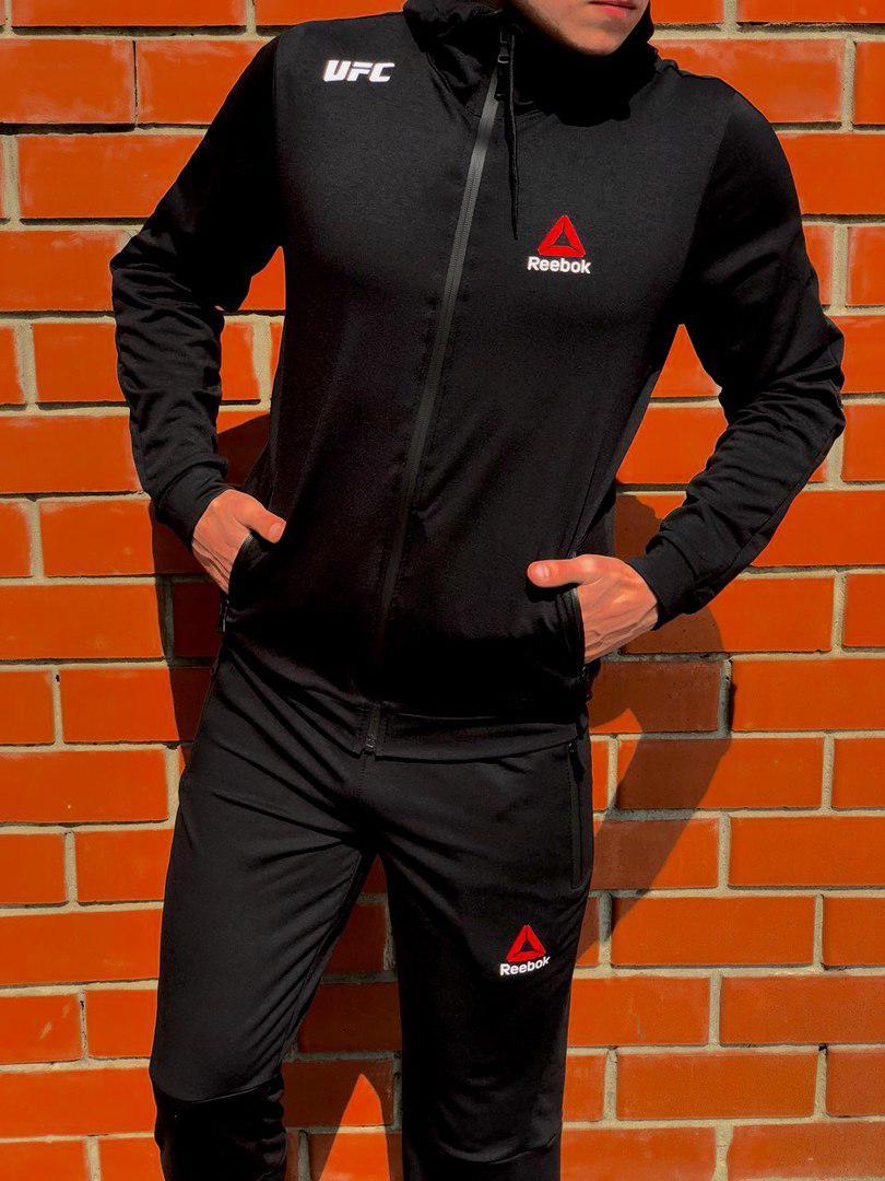 Легкий мужской спортивный костюм на весну осень рибок (Reebok UFC ... 19e650f4866