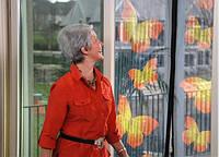 Москитная сетка с бабочками Insta-Screen - москитная сетка на дверь, фото 1