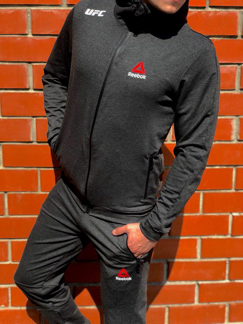 85454751 Легкий мужской спортивный костюм на весну/осень рибок (Reebok UFC) реплика  -