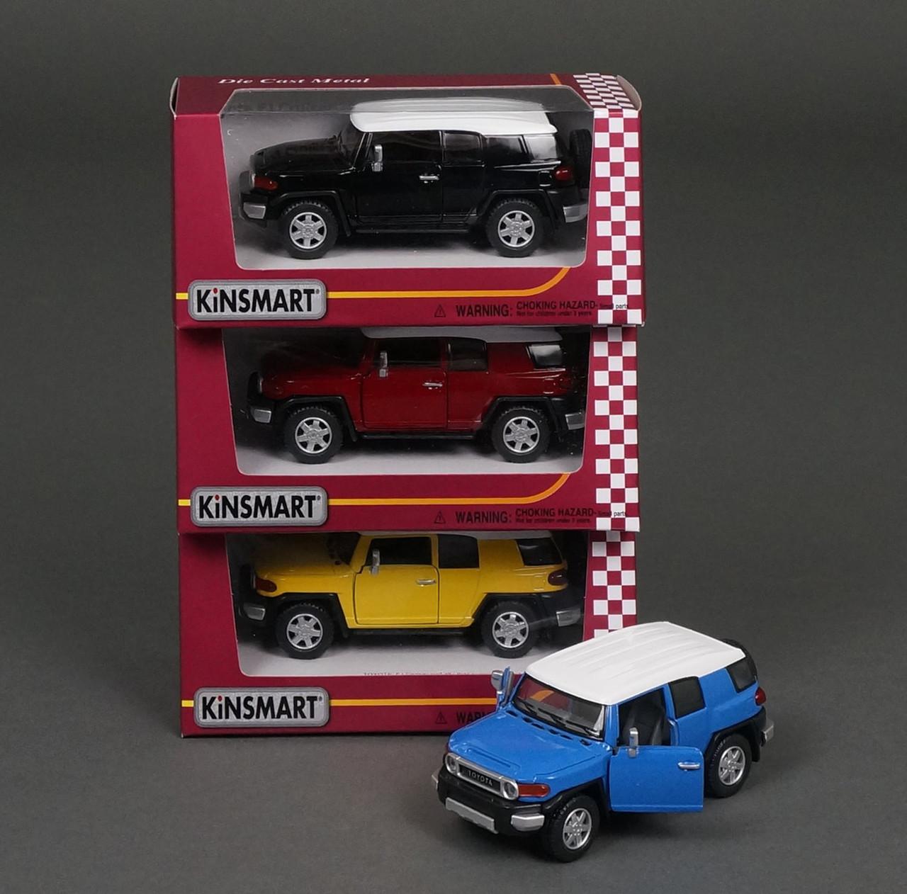 Машинка KINSMART Toyota FJ Cruiser KT 5343 W інерційна, металева, 1:36, 4 кольори, в коробці, 16-7,5-8 см