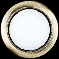 Встраиваемый светильник Ilumia под лампу GX53, Состаренная латунь, 90мм (052)
