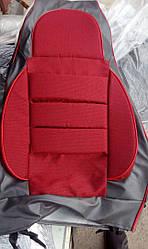 Чехлы на сидушки  2106  Пилот с паралоном красные
