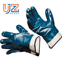 Перчатки нитрильные синие МБС (твердый манжет) женские 8 р-р