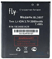 Аккумулятор на Fly BL3807 (iQ454 Evo Tech 1), 2000 mAh
