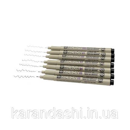 Линер PIGMA Micron (0.5), 0,45мм, Черный, Sakura, фото 2