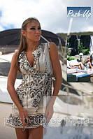 Пляжный халат серый Ora хлопок, фото 1