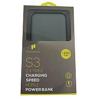 Портативное зарядное устройство PURIDEA S3(2.4A)USBx2;15000 mAh;Li-Pol;Grey&White