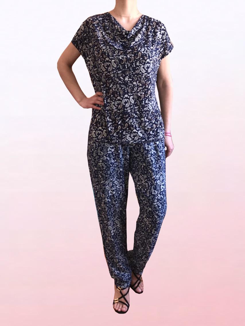 e54c59a9966 Купить Летний женский костюм из ткани масло (1804 5)   по недорогой ...