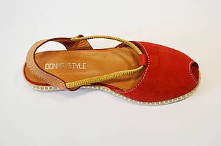 Червоні замшеві босоніжки Donna Style 38 р, фото 3
