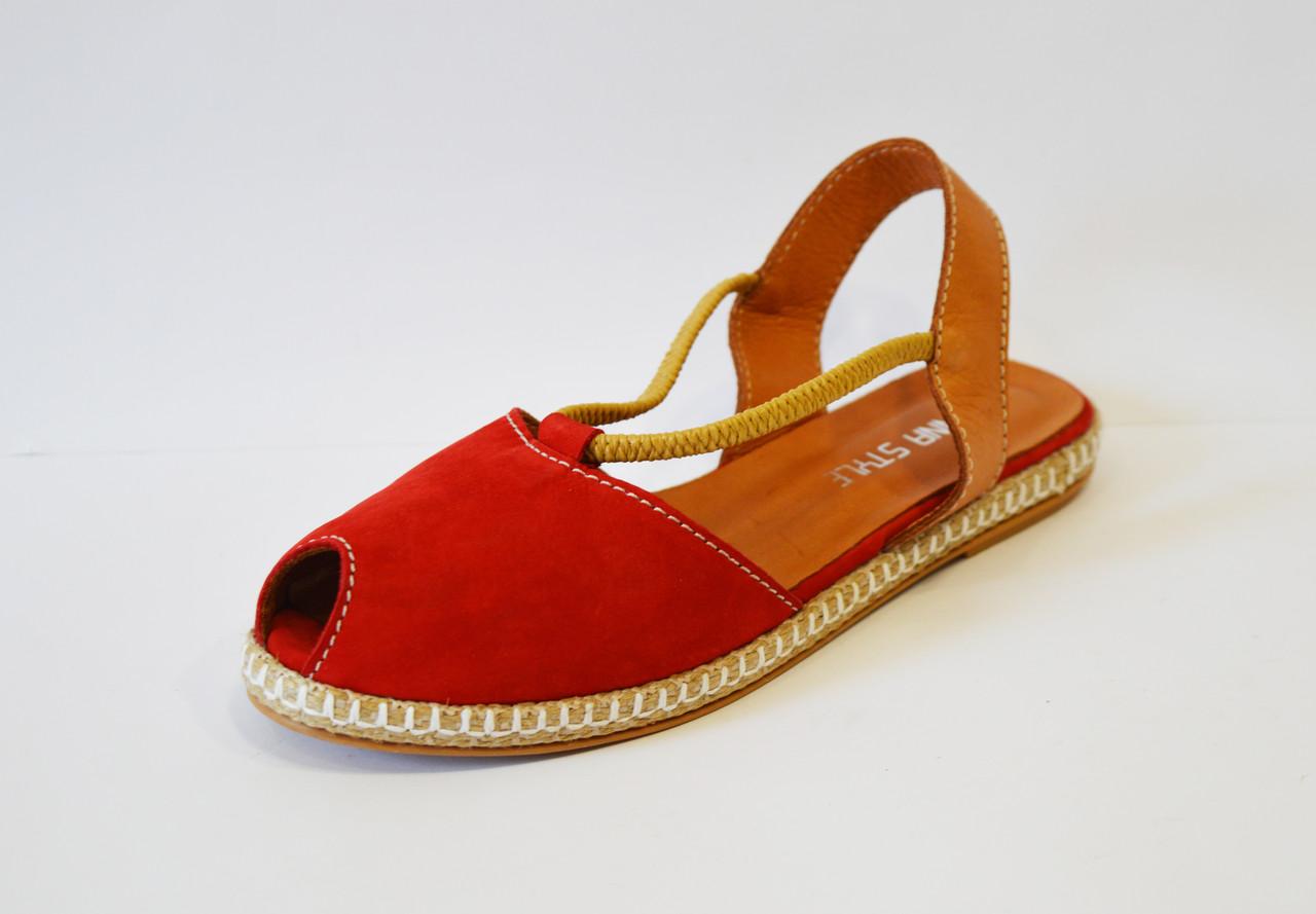 Червоні замшеві босоніжки Donna Style 38 р