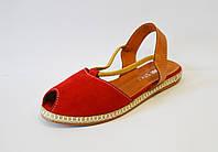 Замшевые красные босоножки Donna Style
