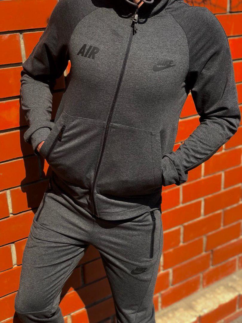 3ee7447b Легкий мужской весенний спортивный костюм серый найк (Nike Air): 830 ...