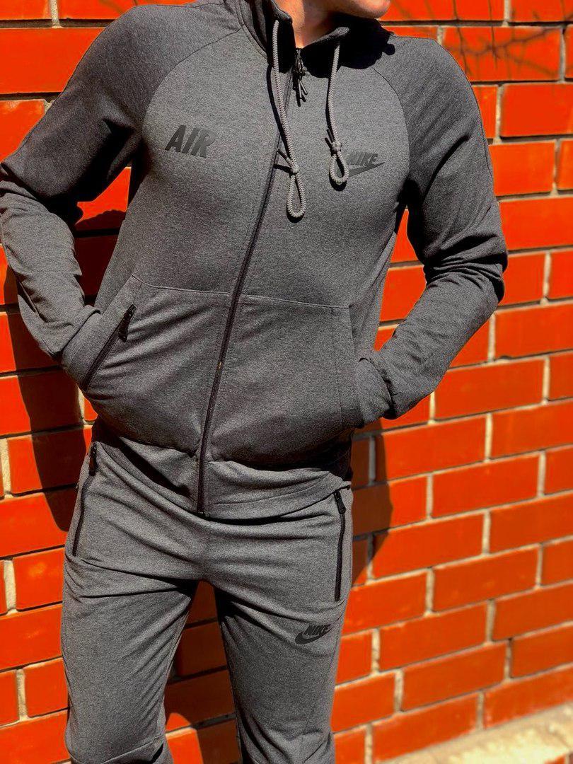 Легкий мужской весенний спортивный костюм серый найк (Nike Air)  830 ... 03ee40858d89b