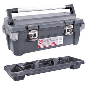 """Скринька для інструментів з металевими замками 25,5"""" 650x275x265 мм INTERTOOL BX-6025"""