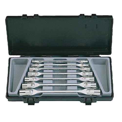 Набір торцевих ключів з шарніром 7 пр. (6-19 мм) Force 5074-Vi F