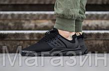 Мужские кроссовки Nike Air Presto All Black Найк Аир Престо черные, фото 2