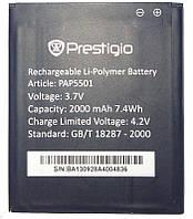 Аккумулятор на Prestigio PAP3540 Duo MultiPhone, 2000 mAh (батарея, АКБ)