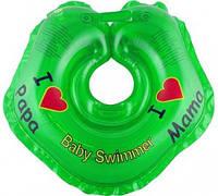 "Круг на шею ТМ Baby Swimmer. Серия ""Я люблю"" Вес 3 - 12 кг Зеленый"