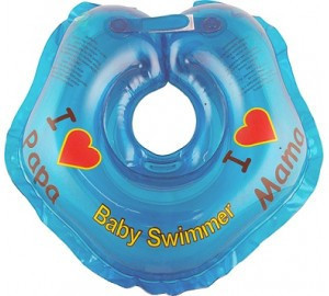 "Круг на шею ТМ Baby Swimmer. Серия ""Я люблю"" Вес 3 - 12 кг Синий"