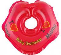 "Круг на шею ТМ Baby Swimmer. Серия ""Я люблю"" Вес 3 - 12 кг Красный"