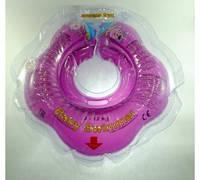 Круг на шею ТМ Baby Swimmer. Вес 3 - 12 кг Пурпурный, фото 1