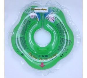 Круг на шею ТМ Baby Swimmer. Вес 3 - 12 кг Зеленый