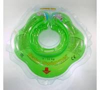 Круг на шею ТМ Baby Swimmer. Вес 3 - 12 кг Салатовый