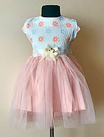Нарядное платье/сарафан для девочки с фатином 2-5 лет