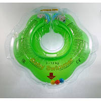 Круг на шею ТМ Baby Swimmer с погремушками. Вес 3 - 12 кг Салатовый