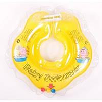Круг на шею ТМ Baby Swimmer с погремушками. Вес 3 - 12 кг Желтый