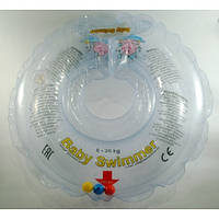 Круг на шею ТМ Baby Swimmer с погремушками. Вес 6 - 36 кг. Прозрачный