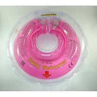 Круг на шею ТМ Baby Swimmer. Вес 6 - 36 кг Розовый