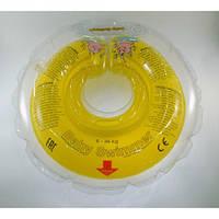 Круг на шею ТМ Baby Swimmer. Вес 6 - 36 кг Желтый