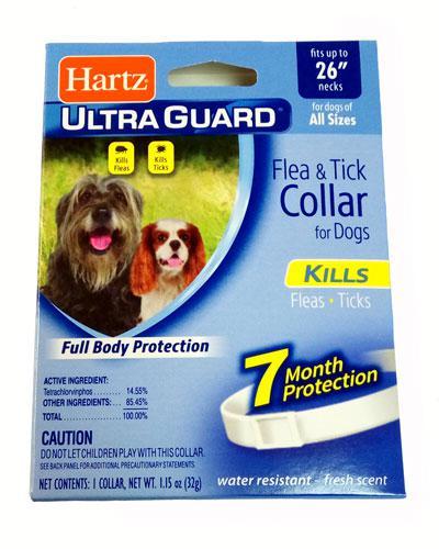 Hartz (Хартц)Ultra Guard Flea&Tick Large Dogs 65см-ошейник для крупных собак от блох и клещей на 7 мес (белый)
