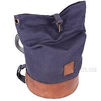 Трансформер-рюкзак из мешковины дно из натуральной кожи 77706