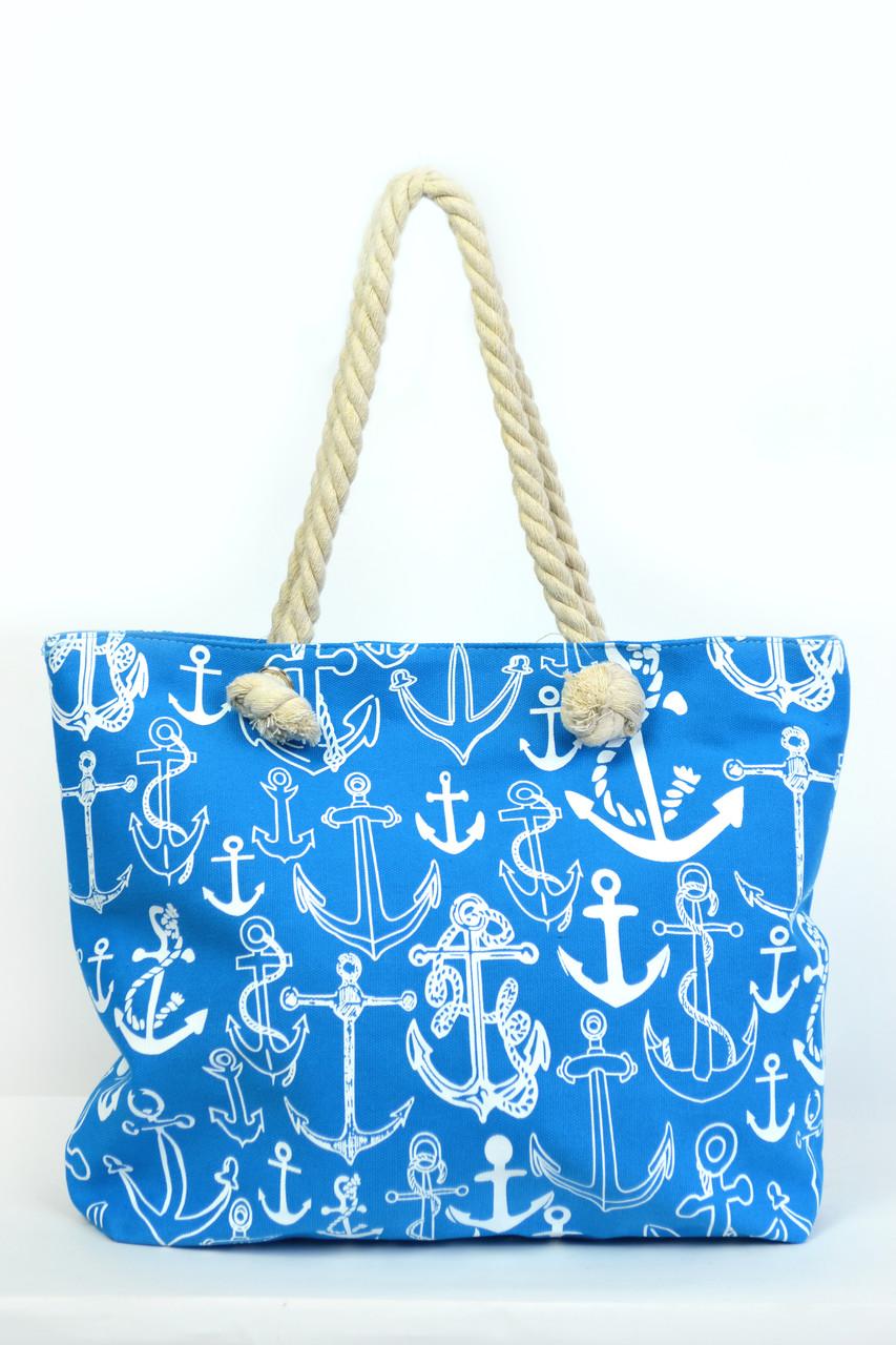 db6a79d52992 Пляжная сумка Сантьяго голубая - купить по низкой цене! женские ...